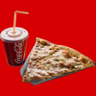 Pizza parče + Coca Cola